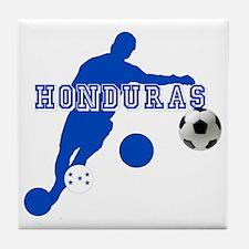Honduras Soccer Player Tile Coaster