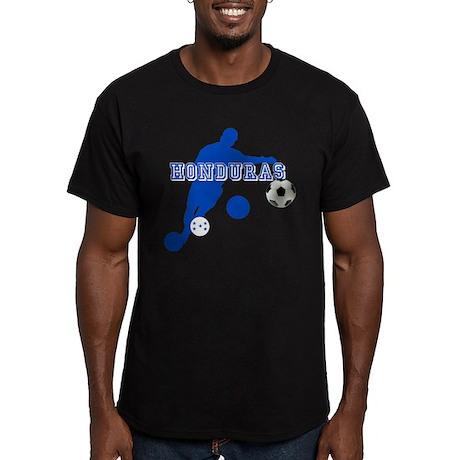 Honduras Soccer Player Men's Fitted T-Shirt (dark)
