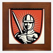 knight warrior crusader Framed Tile
