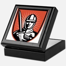 knight warrior crusader Keepsake Box
