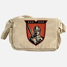knight warrior crusader Messenger Bag