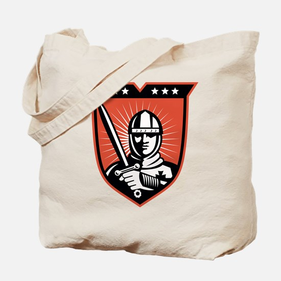 knight warrior crusader Tote Bag
