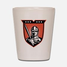 knight warrior crusader Shot Glass