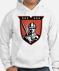 knight warrior crusader Hoodie