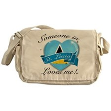 St. Lucia Flag Design Messenger Bag