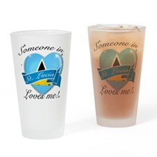 St. Lucia Flag Design Drinking Glass