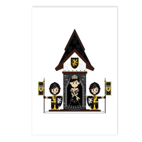 Princess and Black Knights Postcards (Pk of 8)