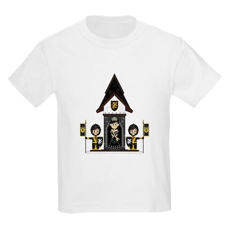 Princess and Black Knights Kids Light T-Shirt