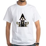 Princess and Black Knights White T-Shirt
