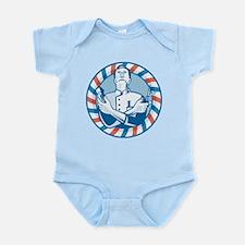 Barber With Clipper Infant Bodysuit