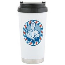 Barber With Clipper Travel Mug