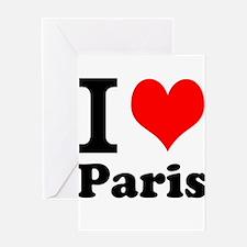 I Heart Paris Greeting Card