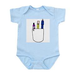 Geek Pencil Pocket Infant Creeper