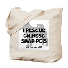 I RESCUE Shar-Peis Tote Bag