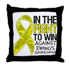 In The Fight Ewing Sarcoma Throw Pillow