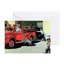Vintage Fire Station Greeting Cards (Pk of 10)