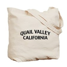 Quail Valley California Tote Bag