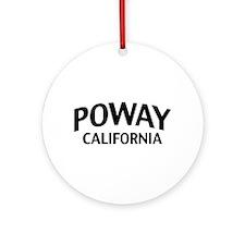 Poway California Ornament (Round)