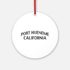 Port Hueneme California Ornament (Round)