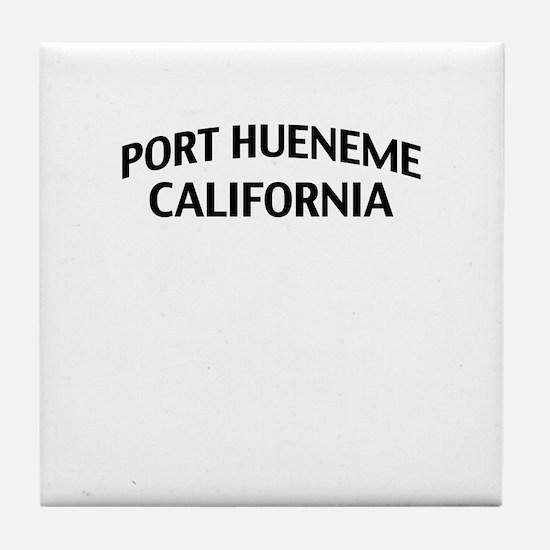 Port Hueneme California Tile Coaster
