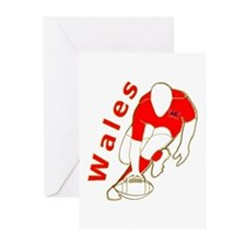 Wales Rugby Designed Greeting Cards (Pk of 10)
