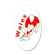 Wales Rugby Designed 22x14 Oval Wall Peel