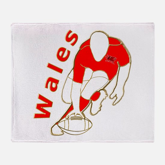 Wales Rugby Designed Throw Blanket