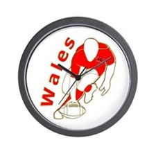 Wales Rugby Designed Wall Clock