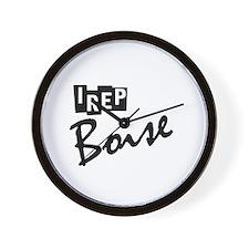 I rep Boise Wall Clock
