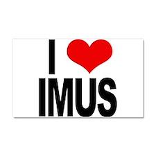 I Love Imus Car Magnet 20 x 12