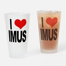 I Love Imus Drinking Glass