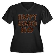 Nappy Headed Ho Hairy Design Women's Plus Size V-N