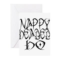 Nappy Headed Ho Tribal Design Greeting Cards (Pk o