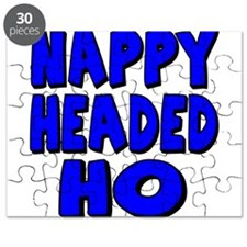 Nappy Headed Ho Blue Design Puzzle
