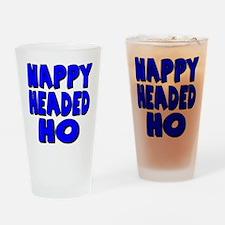 Nappy Headed Ho Blue Design Drinking Glass