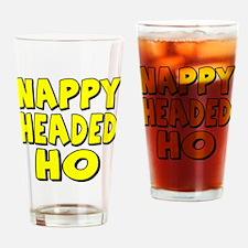 Nappy Headed Ho Yellow Design Drinking Glass
