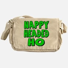 Nappy Headed Ho Green Design Messenger Bag