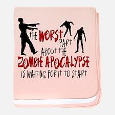 Zombie Apocalypse Waiting baby blanket