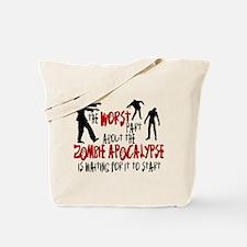 Zombie Apocalypse Waiting Tote Bag