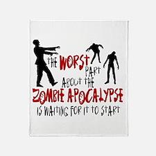 Zombie Apocalypse Waiting Throw Blanket