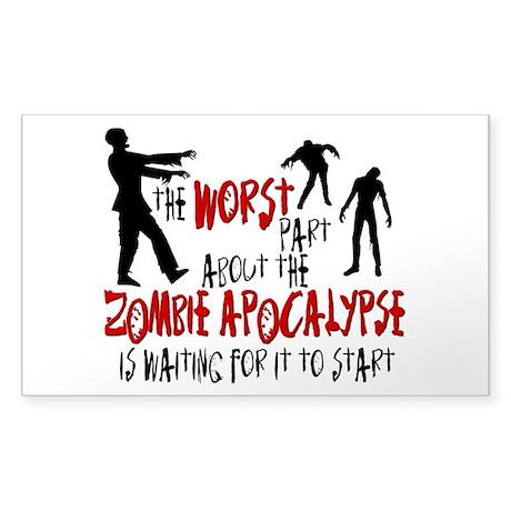 Zombie Apocalypse Waiting Sticker (Rectangle)