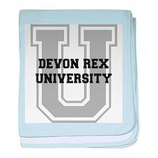 Devon Rex UNIVERSITY baby blanket