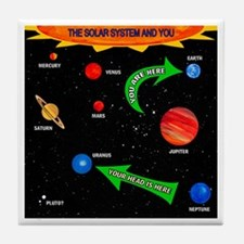The Solar System And You Tile Coaster