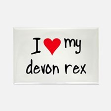 I LOVE MY Devon Rex Rectangle Magnet