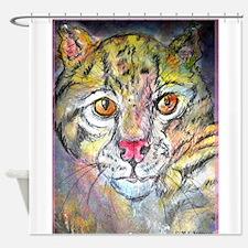 Wildcat! wildlife art! Shower Curtain