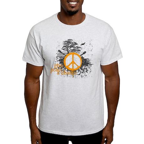 give_peace_scene_orange_dark T-Shirt