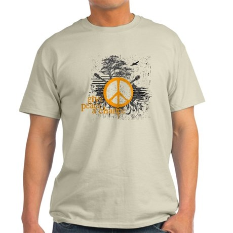 give_peace_scene_orange_dark T-Shirt
