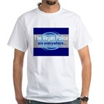 Vegan Police White T-Shirt