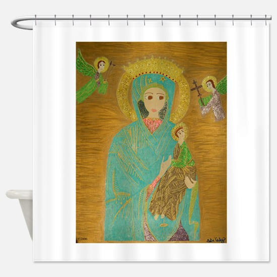 Our Lady of Perpetual Help Shower Curtain
