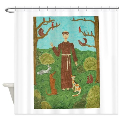 Saint Francis of Assisi Shower Curtain